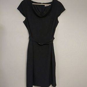 Calvin Klein Cowl Neck Charcoal Dress